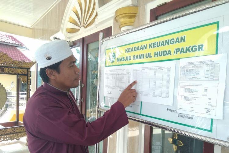 Ibrahim Marbot di Masjid Samiul Huda Jalan Kopral Dahri Sembayu, Kelurahan Sungai Buah, Kecamatan Ilir Timur (IT) II Palembang,  memberanikan diri untuk maju sebagai caleg dari partai Garuda.