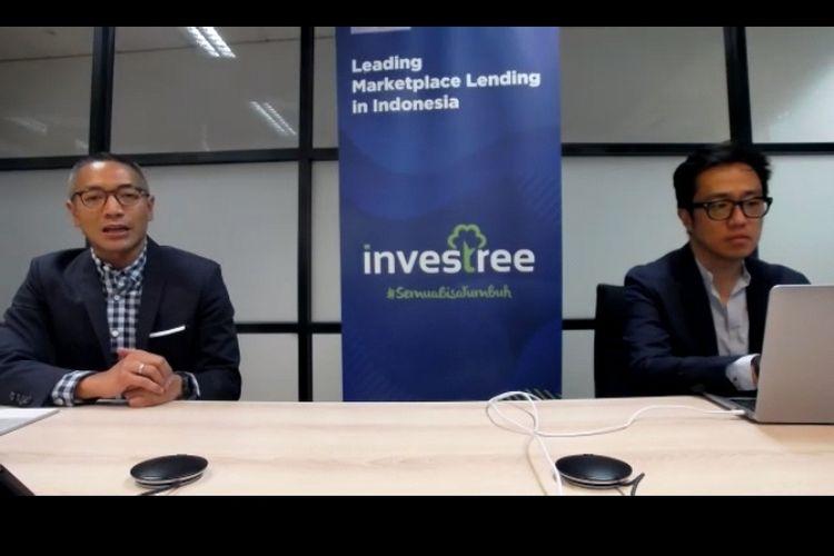 CEO dan Co-Founder Investree, Adrian Gunadi bersama dengan CEO Bri Ventures, Nicko Widjaja