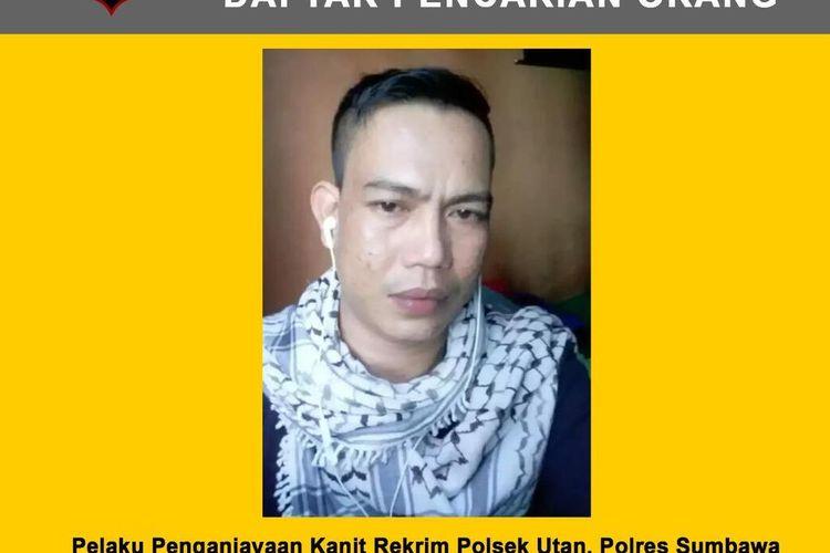Syamsul Rizal Pelaku penikaman Polisi hingga tewas di Sumbawa yang kini menjadi buron (DPO)