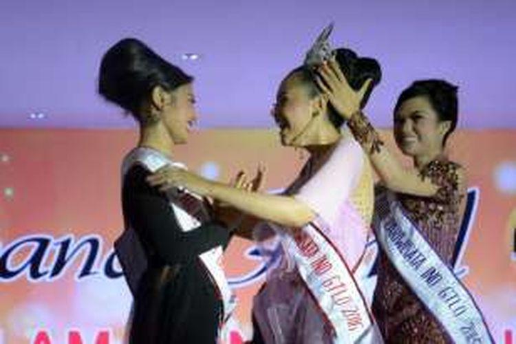 Hartini Ismail dinobatkan sebagai Putri Pariwisata Gorontalo 2016. Ia menyisihkan 13 finalis lainnya.