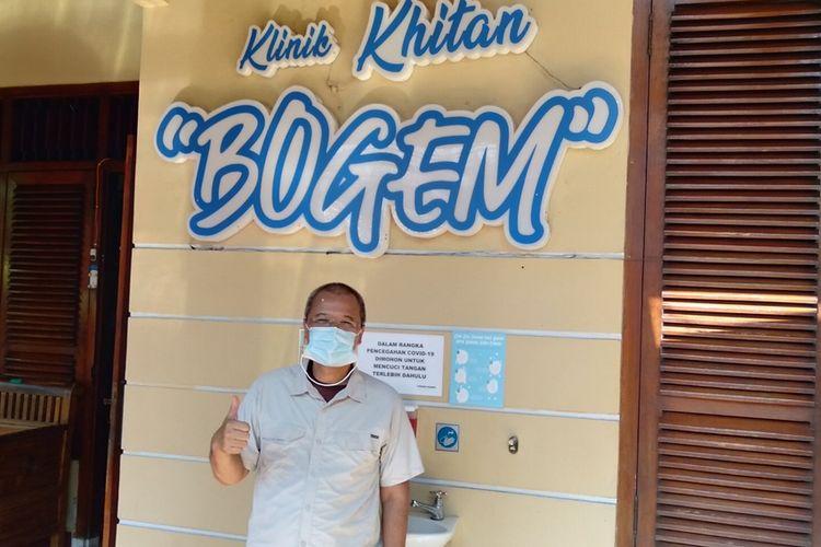 Basuki Harjono Noto Pandoyo  saat ditemui di  Khitan Bogem Ciracas, Jakarta Timur, Kamis (27/8/2020)