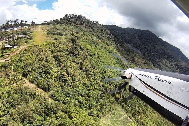 Airstrip Bugalaga di Pegunungan Intan Jaya, Papua.