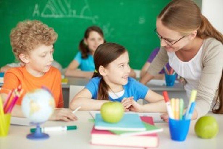 Ilustrasi kegiatan belajar mengajar.