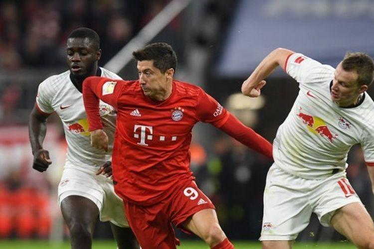 Laga Bayern Muenchen vs Leipzig pada lanjutan pekan ke-21 Bundesliga, kasta tertinggi Liga Jerman, Senin (10/2/2020) dini hari WIB.