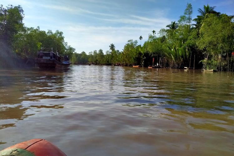 Kawasan Sungai Pangkalraya, Sei Selan Bangka Tengah.