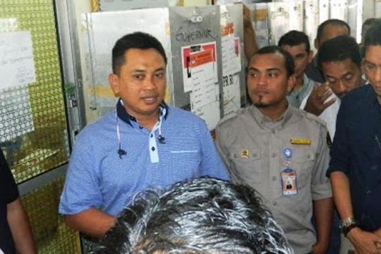 Kapolres Aceh Timur, Rudi Purwiyanto di kantor Komisi Independen Pemilihan (KIP) Aceh Timur