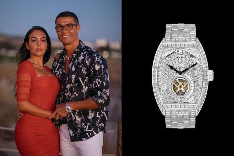 Cristiano Ronaldo dengan jam tangan Franck Muller