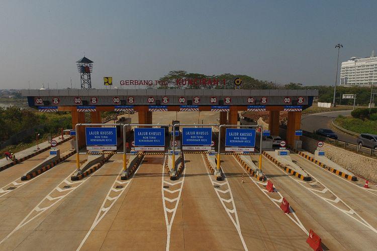 Gerbang Tol Kuncirang di Tol JORR II Ruas Kunciran-Serpong