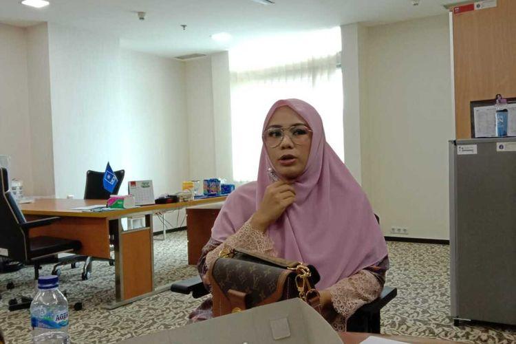 Wakil Ketua DPRD DKI dari Fraksi PAN Zita Anjani di ruangannya, Gedung DPRD DKI, Senin (24/2/2020)