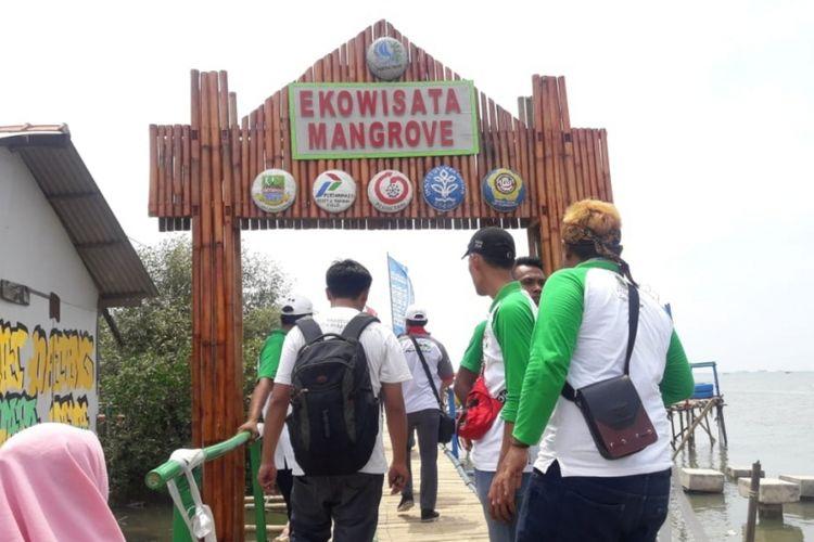 Kawasan ekowisata Mangrove di Desa Pantai Mekar, Kecamatan Muara Gembobg, Kabupaten Bekasi resmi dibuka, Kamis (29/11/2018).