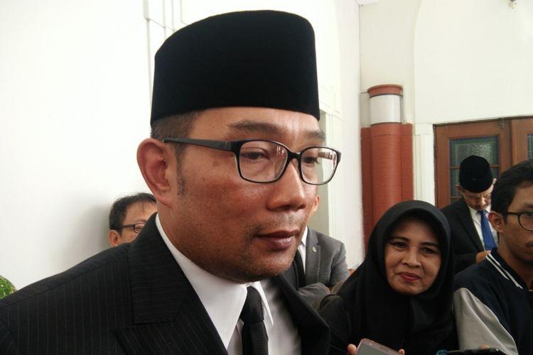 Gubernur Jawa Barat Ridwan Kamil saat ditemui di Gedung Sate, Jalan Diponegoro, Minggu (30/12/2018).