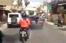 Wanita Pengemudi Mobil Seret Motor Sejauh 200 Meter, Tetap Ngebut meski Kendaraan Dirusak Warga