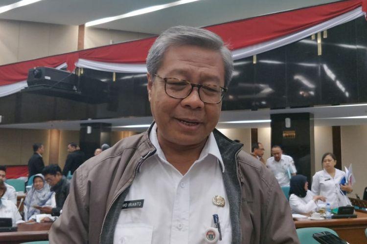 Pelaksana Tugas Kepala Dinas Pendidikan DKI Jakarta Bowo Irianto di gedung DPRD DKI Jakarta, Jalan Kebon Sirih, Jakarta Pusat, Rabu (12/9/2018).