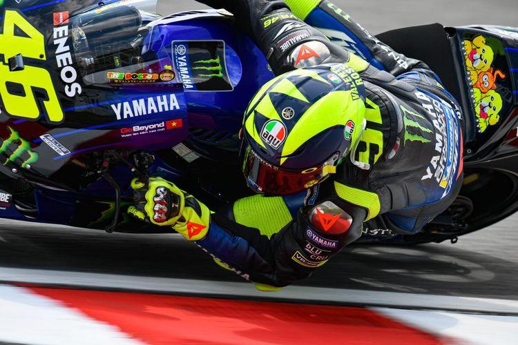 Valentino Rossi saat sesi latihan di MotoGP Malaysia 2019