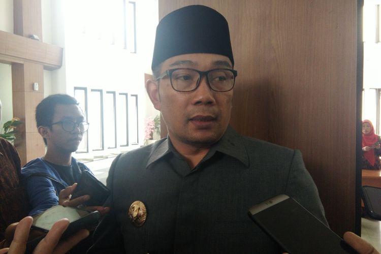 Gubernur Jawa Barat Ridwan Kamil saat ditemui di Gedung DPRD Jabar, Jalan Diponegoro, Senin (22/10/2018).