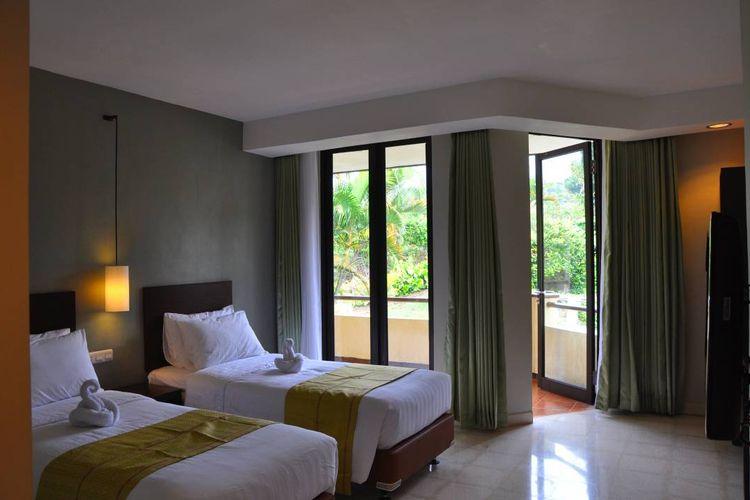 Ilustrasi kamar The Batu Villas tipe deluxe twin bed
