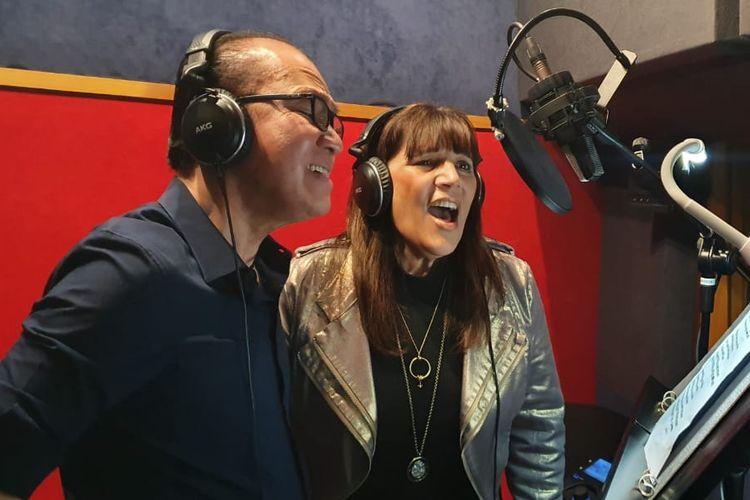 Dubes Tantowi Yahya dengan diva Maori, Caai Michelle saat melakukan rekaman untuk album kolaborasi Friends For Good.