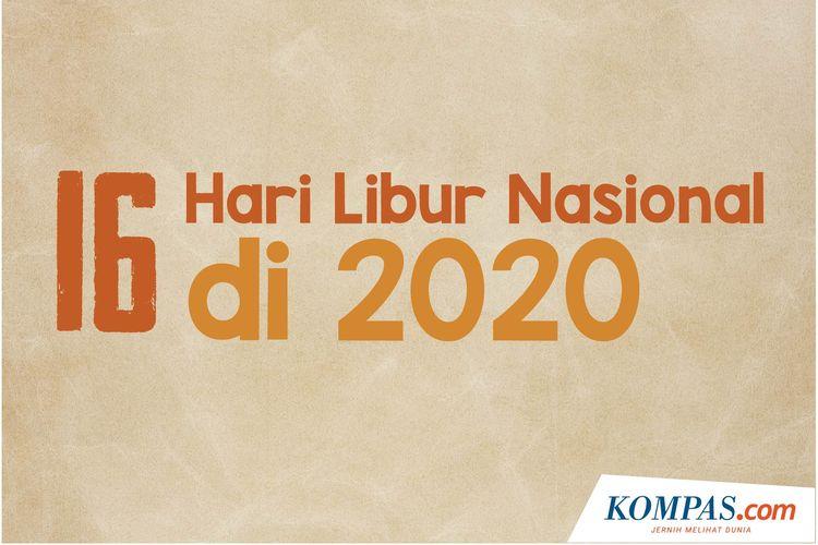 Infografik: 16 Hari Libur Nasional 2020