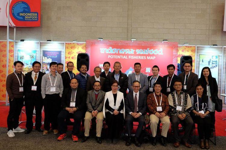 Delegasi Indonesia di ajang Seafood Expo North America (SENA) yang berlangsung dari 17-19 Maret 2019 di Boston Convention & Exhibition Center, Boston, Amerika Serikat (AS).