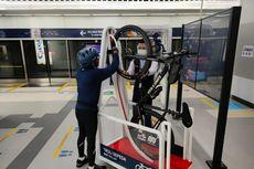 Stasiun MRT Bundaran HI Punya Dua Unit Troli untuk Sepeda Non-lipat