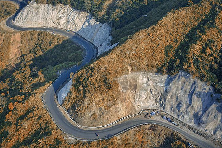 Access Road PLTA Upper Cisokan Pumped Storage 4x260 MW sepanjang 33,7 km di Kabupaten Bandung Barat