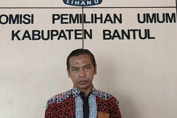 Ketua KPU Bantul Didik Joko Nugroho