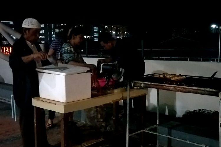 Food Court Pasar Ikan Modern Muara Baru, Jakarta Utara, Kamis (21/3/2019).