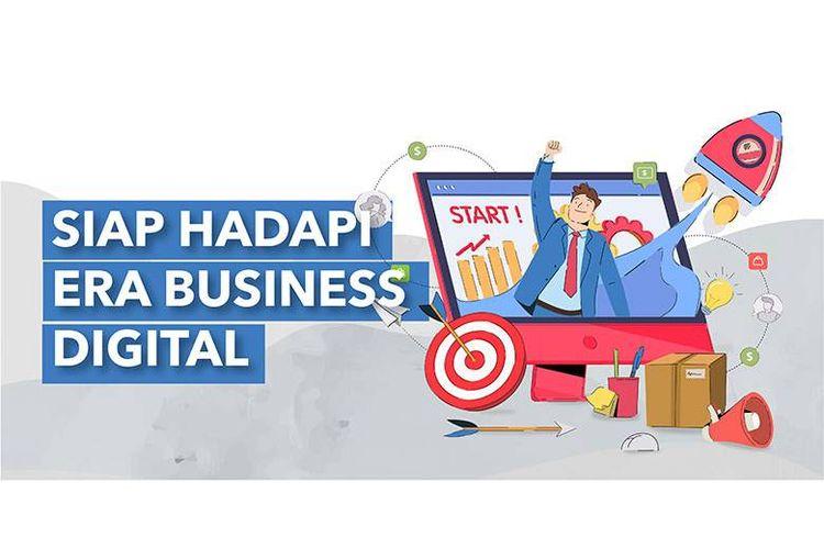 Ilustrasi bisnis digital.