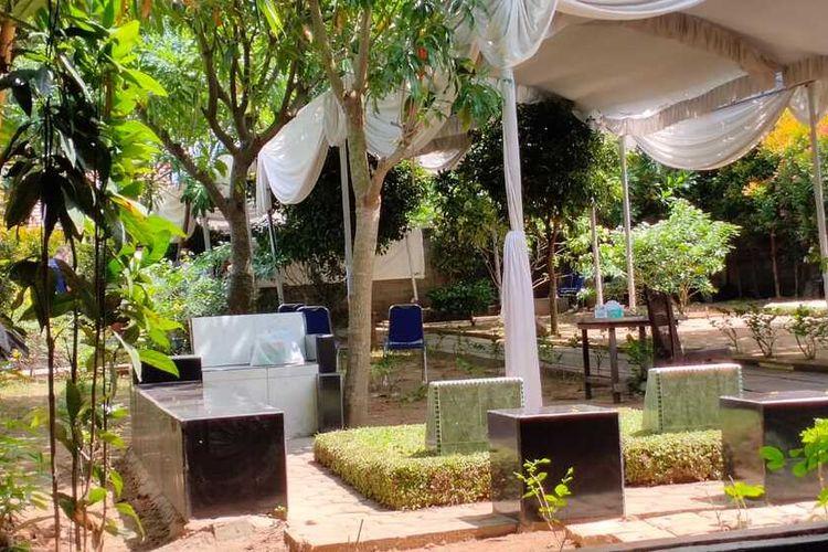 Lokasi pemakaman almarhumah Kordiah bintiAchmad Saleh Timbul, ibunda Menteri Dalam Negeri (Mendagir) Tito Karnavian, di makam keluarga H Amir Saleh Bakri di TPU Kebun Bunga, Kelurahan Kebun Bunga, Kecamatan Sukarami, Palembang, Jumat (13/8/2021).