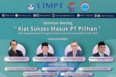 LTMPT Gelar Webinar dan Pemeringkatan Sekolah dari Nilai UTBK Pagi Ini