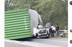 Detik-detik Truk Kontainer Terbalik di Tol Cipularang yang Tewaskan Bos Indomaret