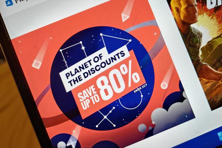 Ilustrasi event Planet od the Discounts yang digelar Sony hingga 27 Juli 2021.