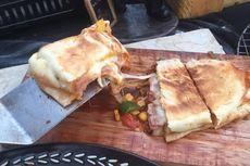 Resep Calzone Teflon, Pizza Lipat Mirip Pastel Jumbo