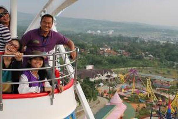 Salah satu wahana di Jungleland Adventure Theme Park, Sentul, Jawa Barat.