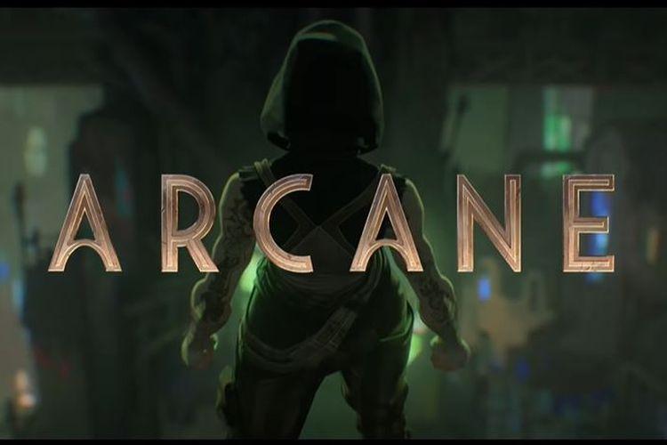 Ilustrasi serial TV animasi Netflix Arcane.