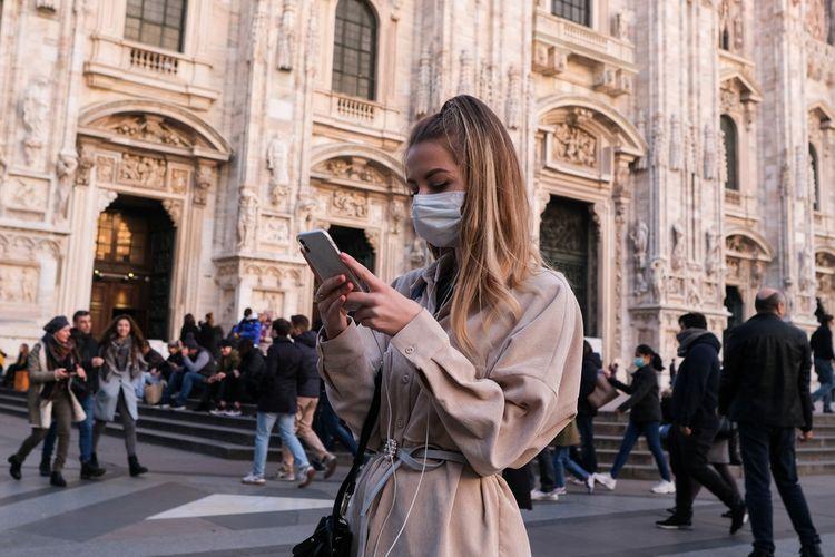 Ilustrasi: Suasana Kota Milan setelah virus corona mulai merebak di Italia