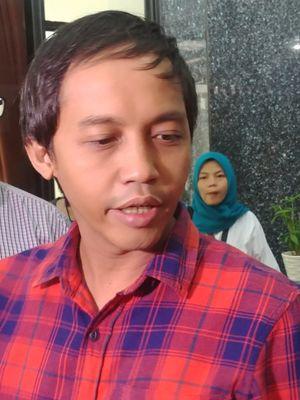 Wakil Sekretaris TKN Jokowi-Maruf, Raja Juli Antoni, di Sekretariat TKN, Jakarta, Rabu (12/9/2018).