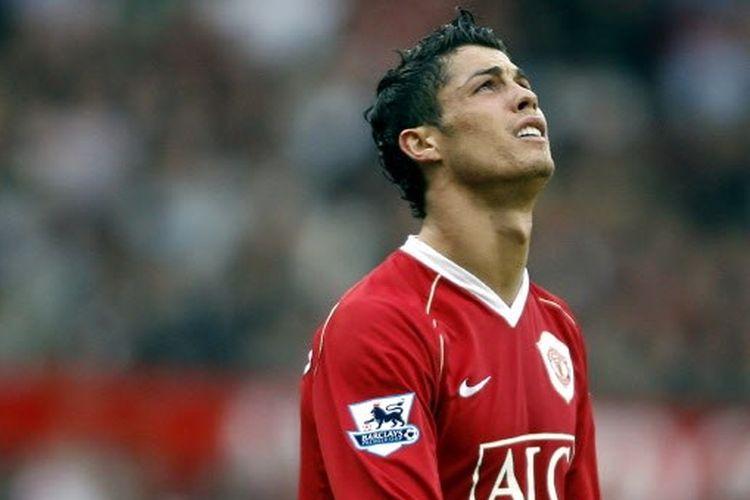 Cristiano Ronaldo saat masih memperkuat Manchester United.