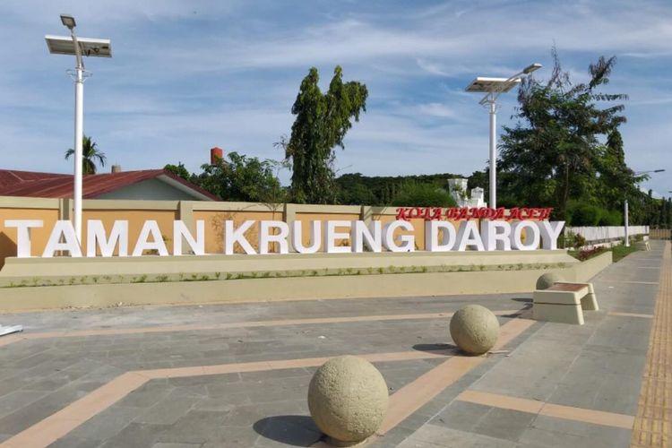 Taman Krueng Daroy sebagai hasil dari penataan kawasan kumuh Seutui, Banda Aceh.