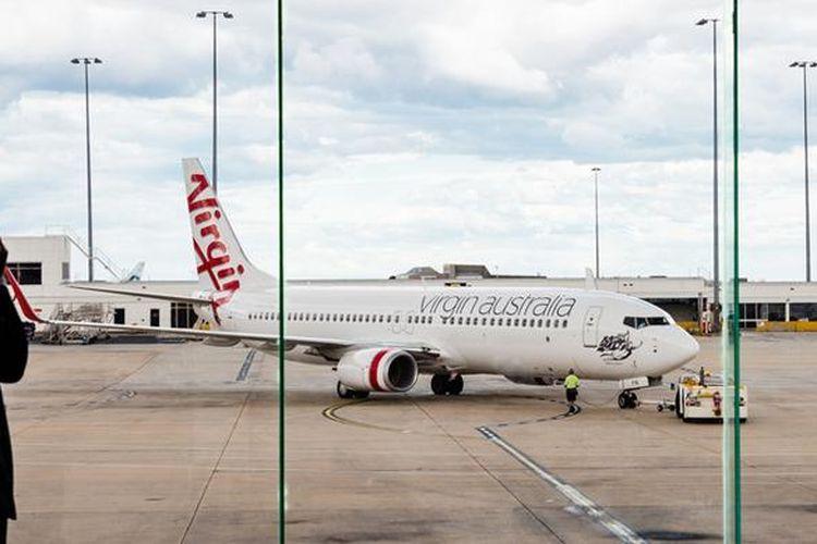 Ilustrasi pesawat Virgin Australia.