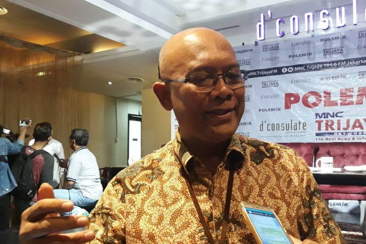 Sekretaris Ditjen Kependudukan dan Pencatatan Sipil (Dukcapil) Kementerian dalam Negeri (Kemendagri) I Gede Suratha  dalam sebuah diskusi bertajuk e-KTP, WNA, dan Kita di kawasan Menteng, Jakarta Pusat, Sabtu (2/3/2019).
