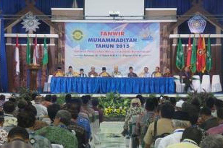 Suasana penutupan Tanwir Muhammadiyah 2015 di Universitas Muhammadiyah Makassar, Minggu (2/8/2015).