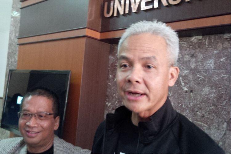 Gubernur Jawa Tengah, Ganjar Pranowo ditemui di UNS Solo, Jawa Tengah, Rabu (4/3/2020).