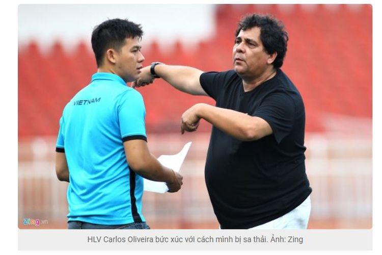 Mantan pelatih tim Liga Vietnam, BECAMEX Binh Duong FC, Carlos Carvalho de Oliveira.