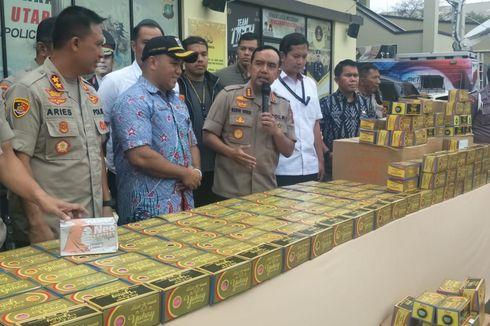 Polisi Gerebek Gudang Penimbunan Ribuan Masker di Batam