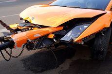 Mobil Lamborghini Milik Penodong Pistol di Kemang Rusak Akibat Kecelakaan Tunggal