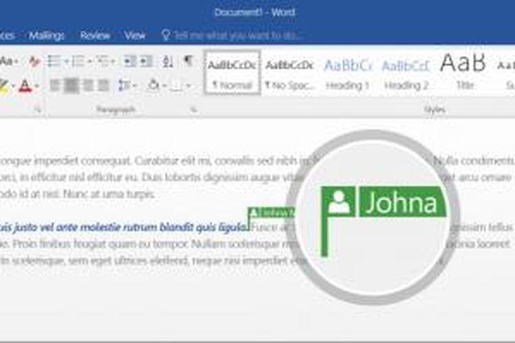 Microsoft Office 2016 memungkinkan pengguna mengedit file Word bersama-sama secara real-time