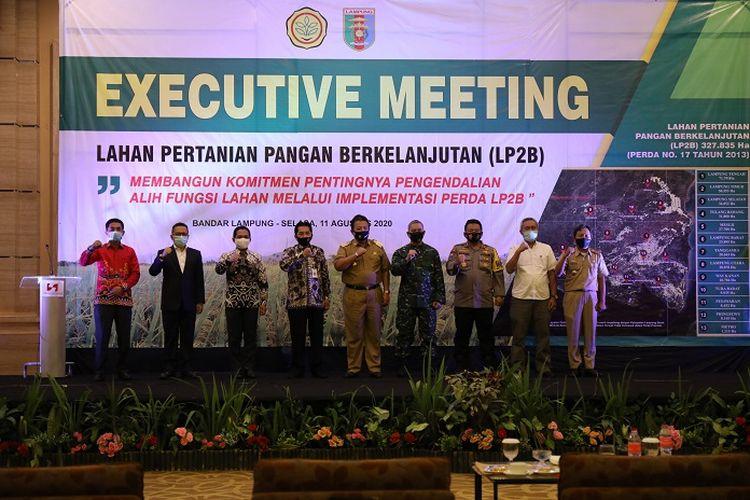 Executive Meeting Perlindungan LP2B, di Bandar Lampung, Selasa (11/8/2020).
