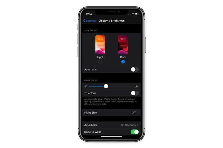 Dark Mode di iOS 13