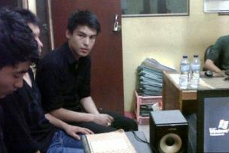 Para imigran gelap asal Afghanistan yang ditangkap oleh pihak Polsek Tampan Pekanbaru